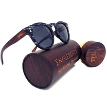 Load image into Gallery viewer, granite sunglasses with wood case
