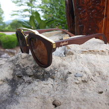 Load image into Gallery viewer, cherry wood sunglasses quarter view
