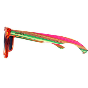multi-colored sunglasses side view