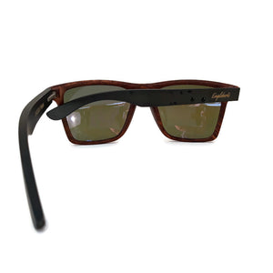 oak frame bamboo sunglasses rear view