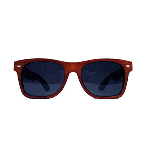 red stripe bamboo sunglasses front view