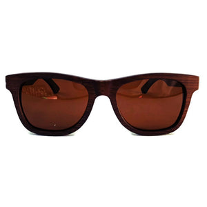 brown wooden sunglasses front view