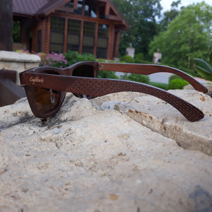 ebony wooden sunglasses side view