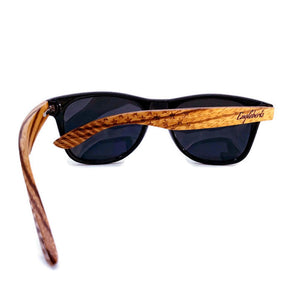 zebrawood all star sunglasses rear view