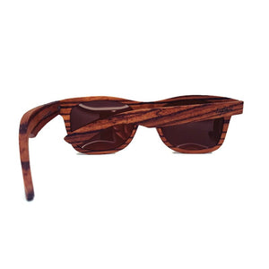 zebrawood full frame sunglasses rear view