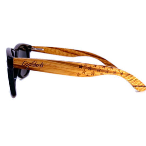 zebrawood all star sunglasses side view