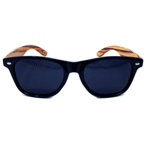 zebrawood all star sunglasses front view