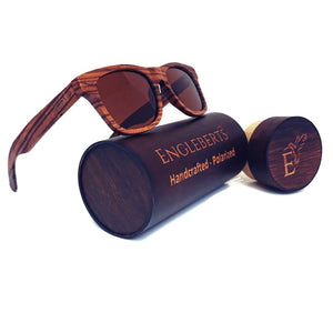 zebrawood full frame sunglasses with case