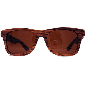 zebrawood full frame sunglasses front view