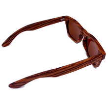 Load image into Gallery viewer, zebrawood full frame sunglasses top view