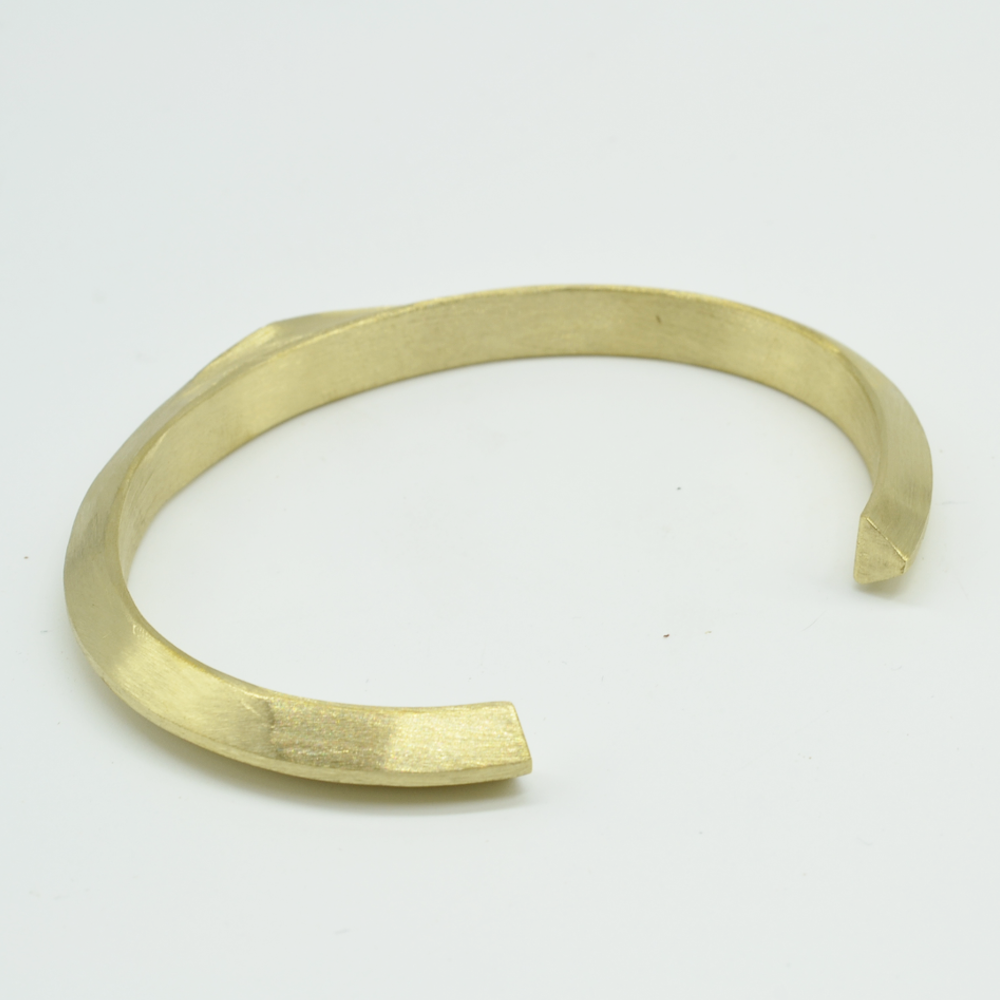Diamond Flat Brass Cuff
