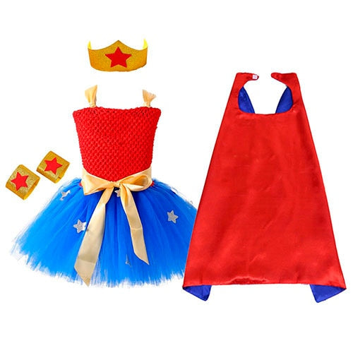 Wonder Girl Tutu Dress Costume