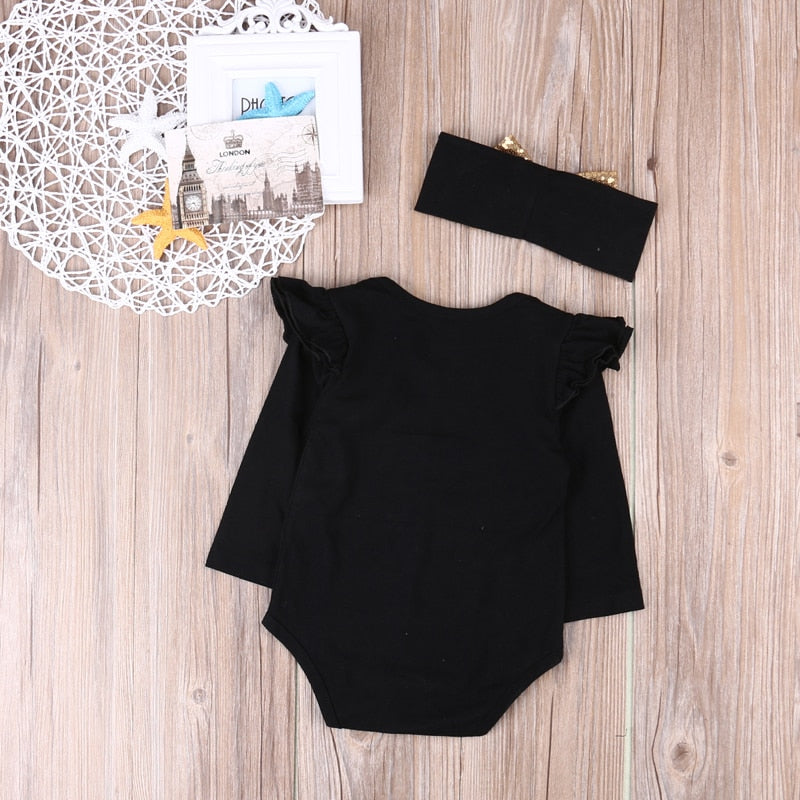 Mommy is My Bestie Romper +Bow Headband 2PCS Outfit