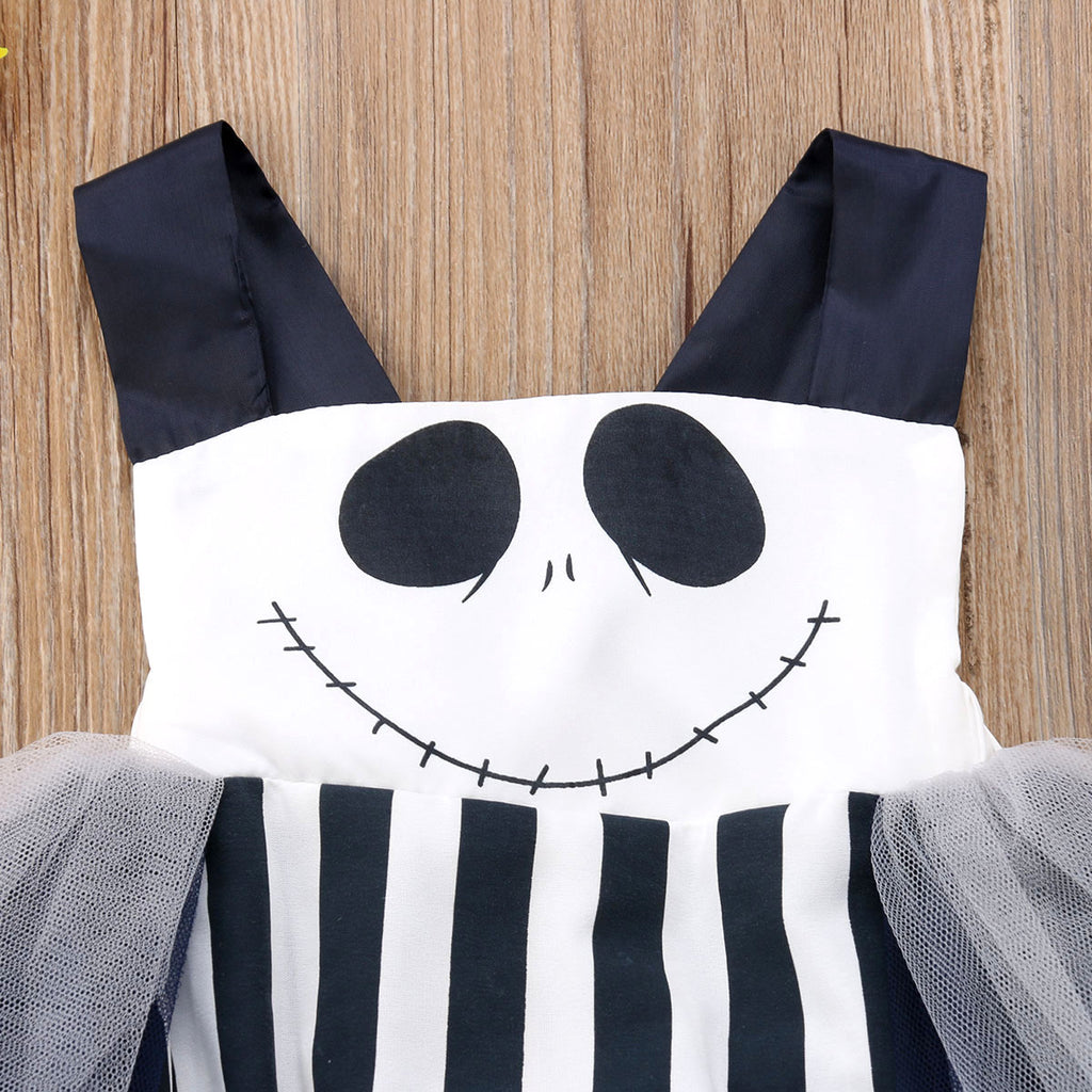 Mr Jack Striped Tutu Romper Jumpsuit