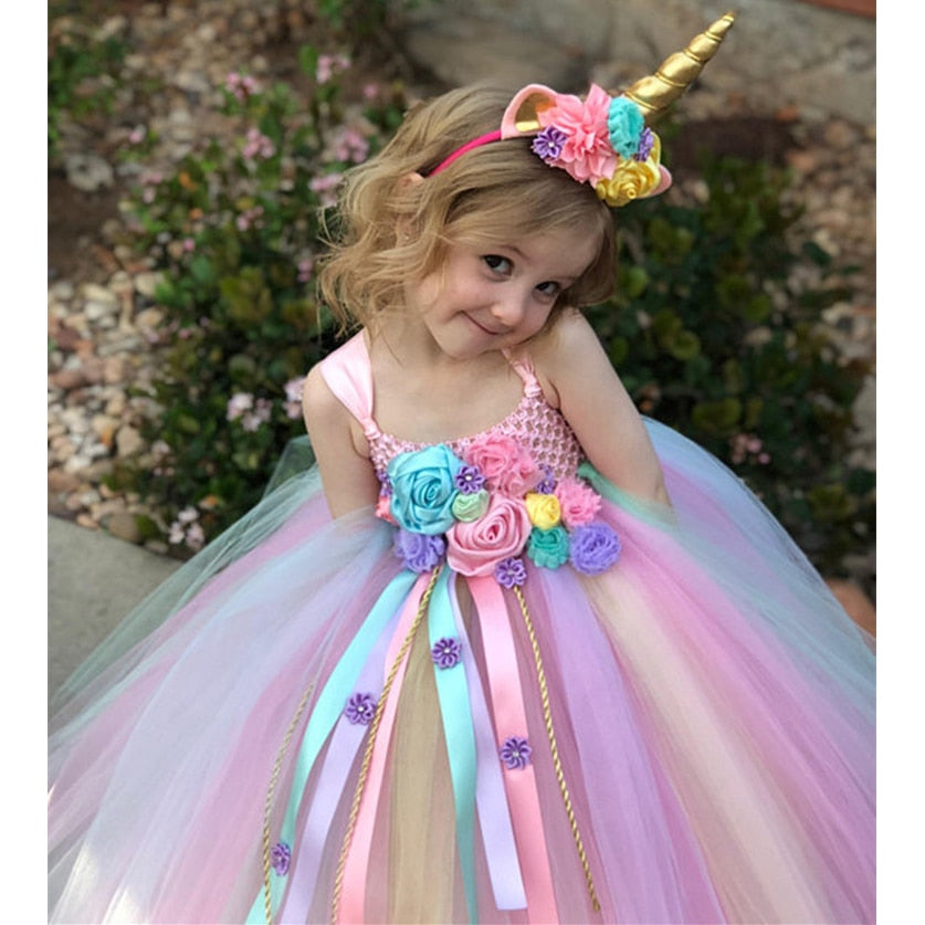 Unicorn Dreams Ball Gown Tutu Dress