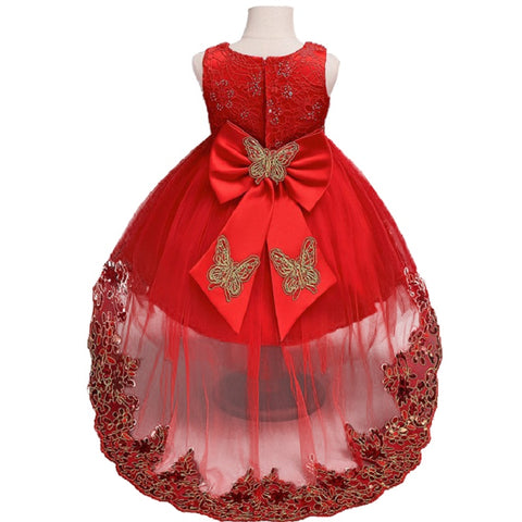 New High quality baby lace princess dress for girl elegant birthday party dress girl dress Baby girl's christmas clothes 2-12yrs
