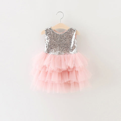 Sequined Dress With Layered Tulle (Multiple Colors)