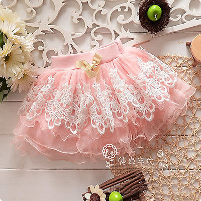Sweeet Little  Girls Lacey Skirt in Multiple colors.  LOVE IT!