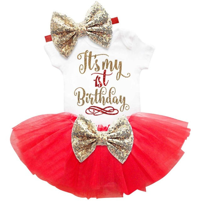 Tutu SET (Top+Headband+Skirt) First Birthday