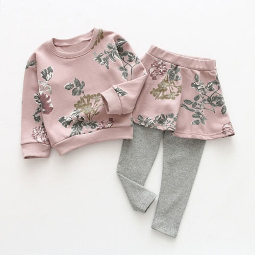 Girls Sweatpants and Sweatshirt Set (Multiple Designs)