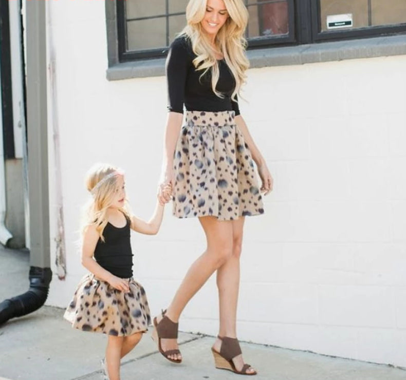 Mother Daughter Matching Skirts