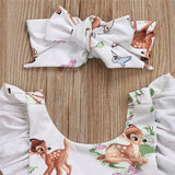 Storytime Backless Romper- Bambi