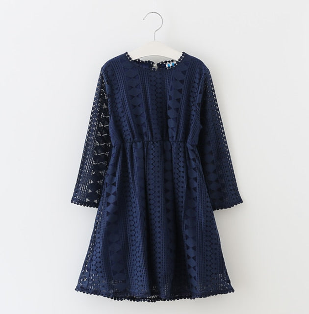 The Claire Long Sleeve Lace Dress
