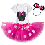 Girls First Birthday Tutu with Onesie and Headband (Multiple Designs)