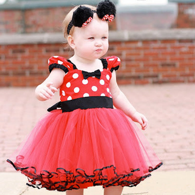 Minnie Mouse Dress (Multiple Colors)