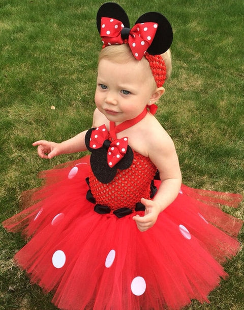 Minnie Mouse Tutu And Headband (Multiple Colors)