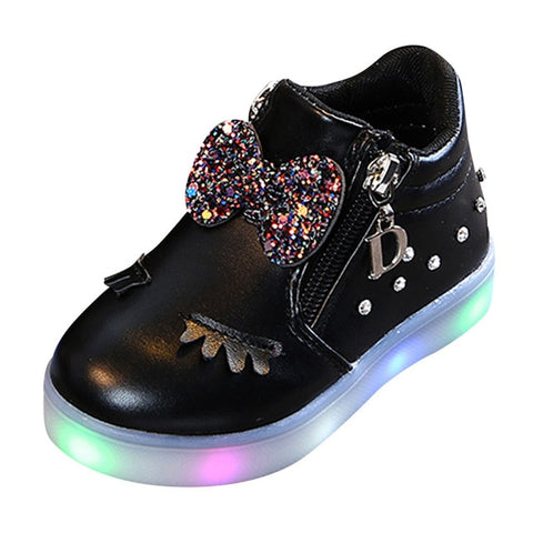 Crystal Bowknot LED Light Boots