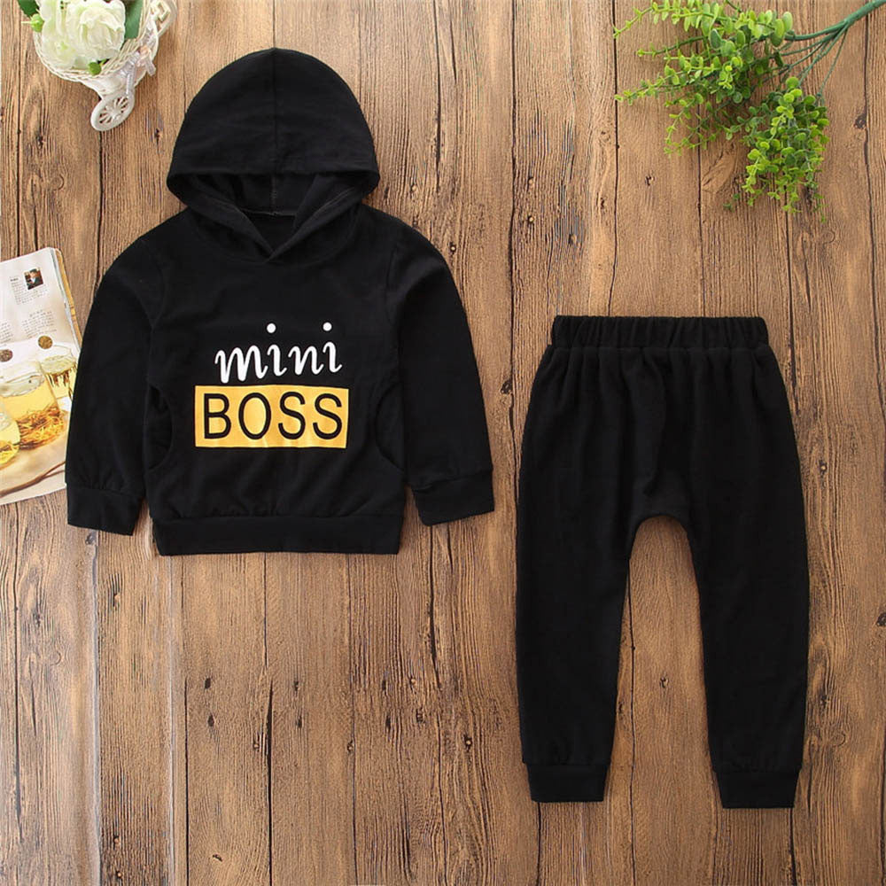 Toddlers 'Mini Boss' Sweatsuit