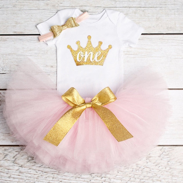 Girls 1st First Birthday Tutu Dress(More choices)
