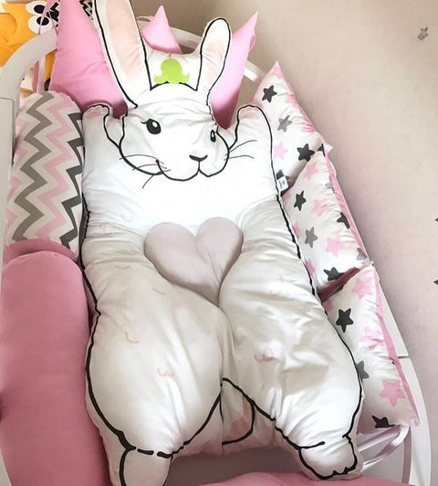 Child Throw Blanket Pure Cotton Crawl Blankets Children Rabbit Game Raccoon Carpet Plaid Sofa Plaid Bedspreads Weighted Blanket