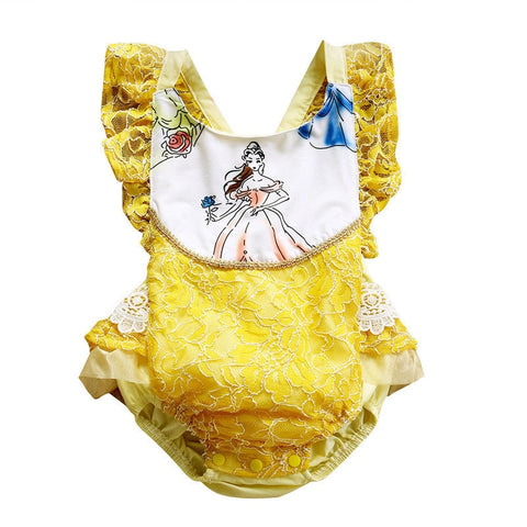 Storytime Backless Romper- Beauty and the Beast