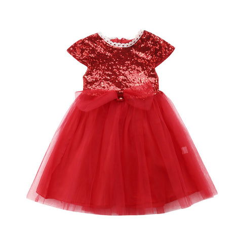 Sequins & Lace Tutu Dress (Multiple Colors)