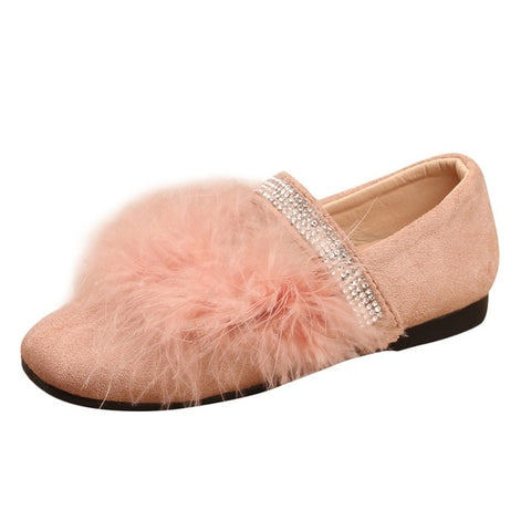 Plush fur shoes
