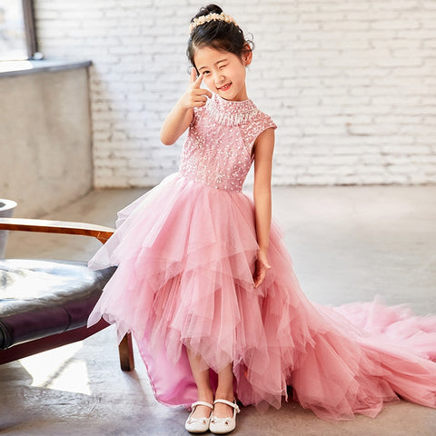 The Emery High Low Flower Girl Dress