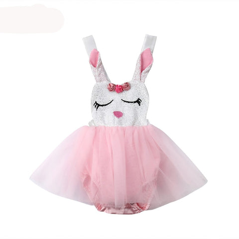 The Lillian Rabbit Romper Tutu Dress