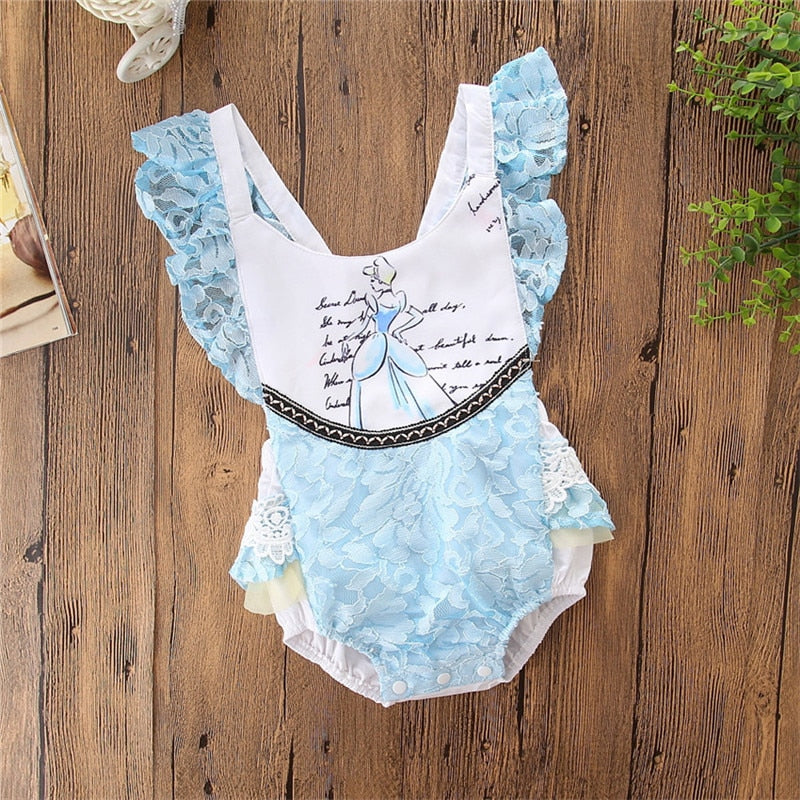 Storytime Backless Romper- Cinderella