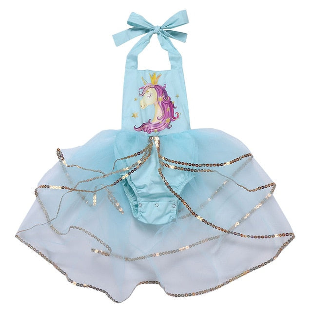 Sequined Girls Unicorn Dress