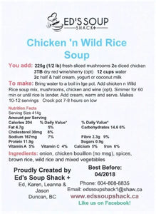 Chicken & Wild Rice Soup Mix