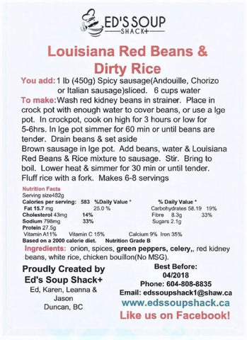 Louisiana Red Beans & Dirty Rice Mix