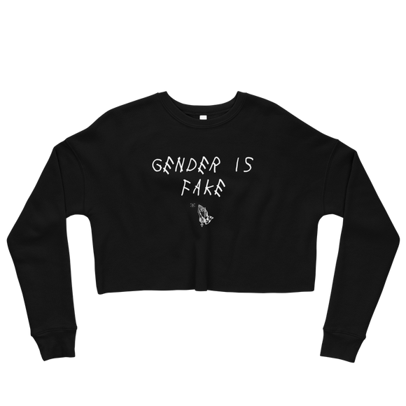 Gender Is Fake Crop Sweatshirt
