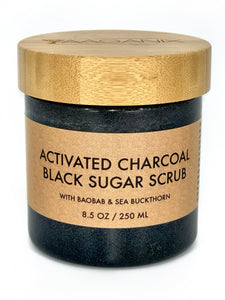 Activated Charcoal Black Sugar Scrub