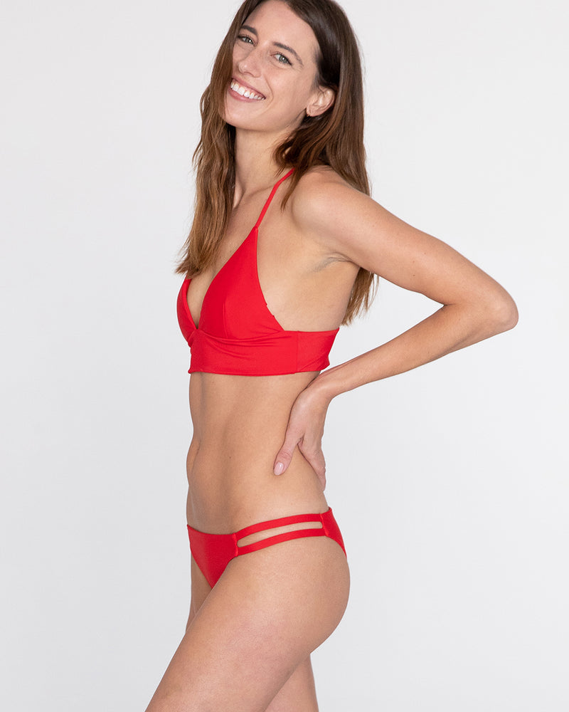 Siena Strappy Back Top (Red)