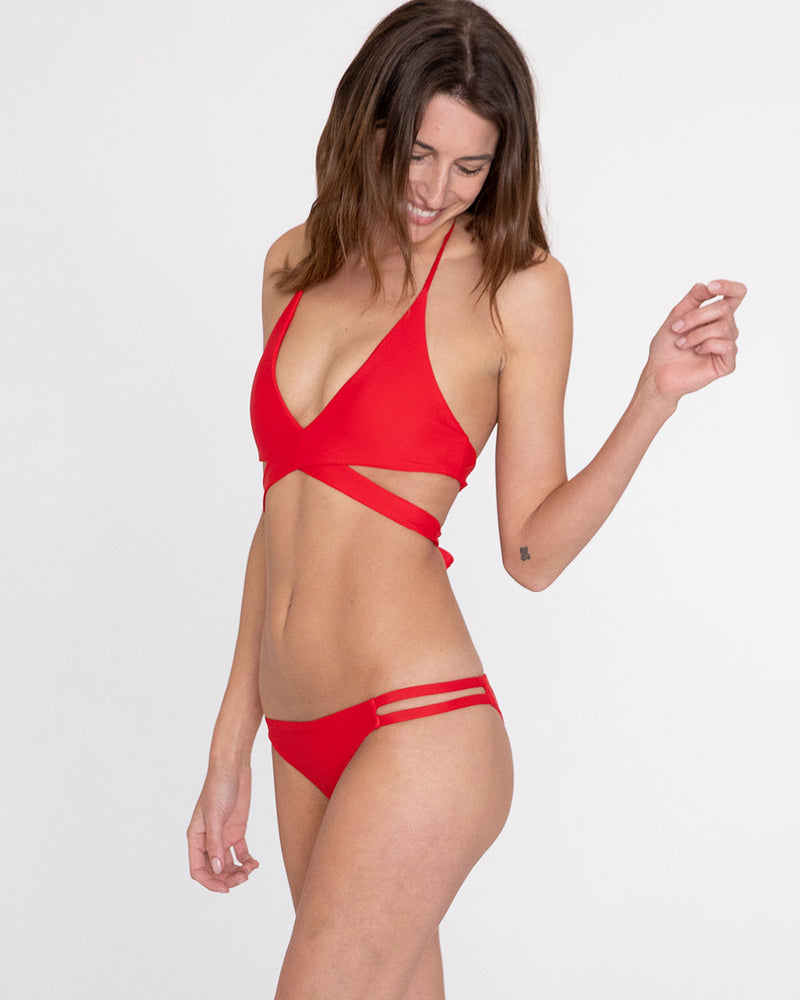 Como String Bikini Top (Red)