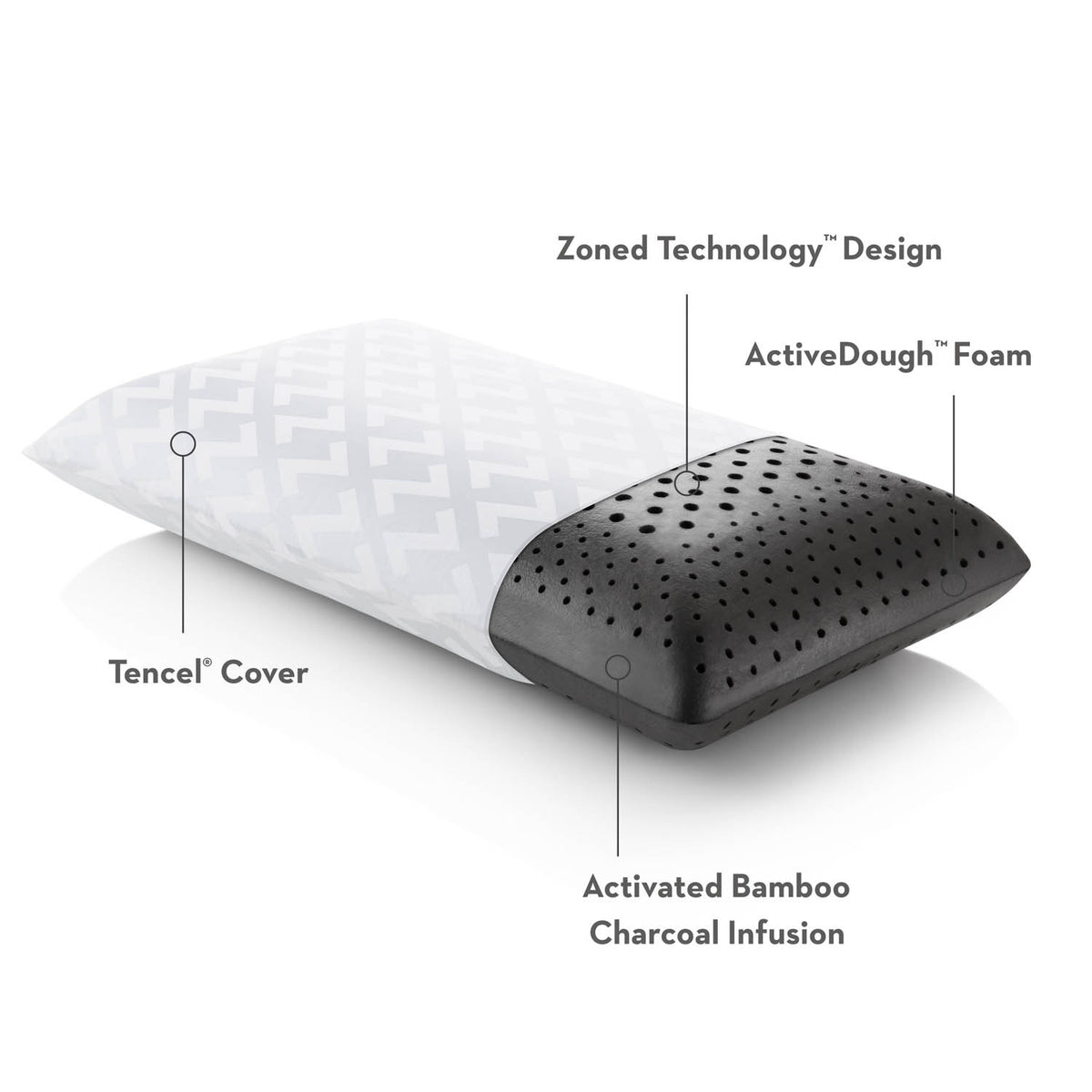 Malouf Bamboo Charcoal Pillow