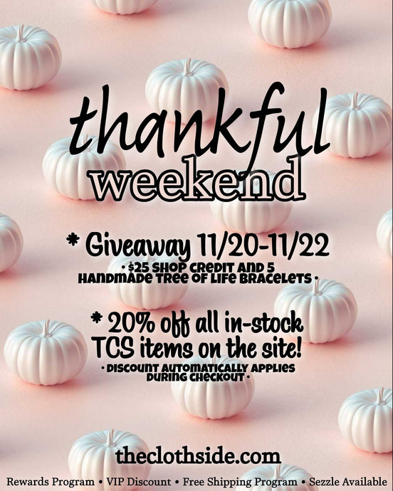 Thankful Weekend! Giveaway and Sale