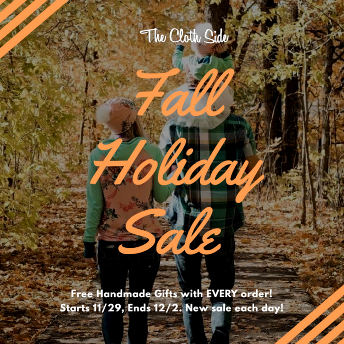 Fall Holiday Sale 11/29-12/2
